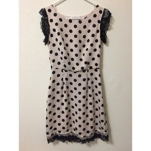 Dresses & Skirts - Lace and polka dots dress